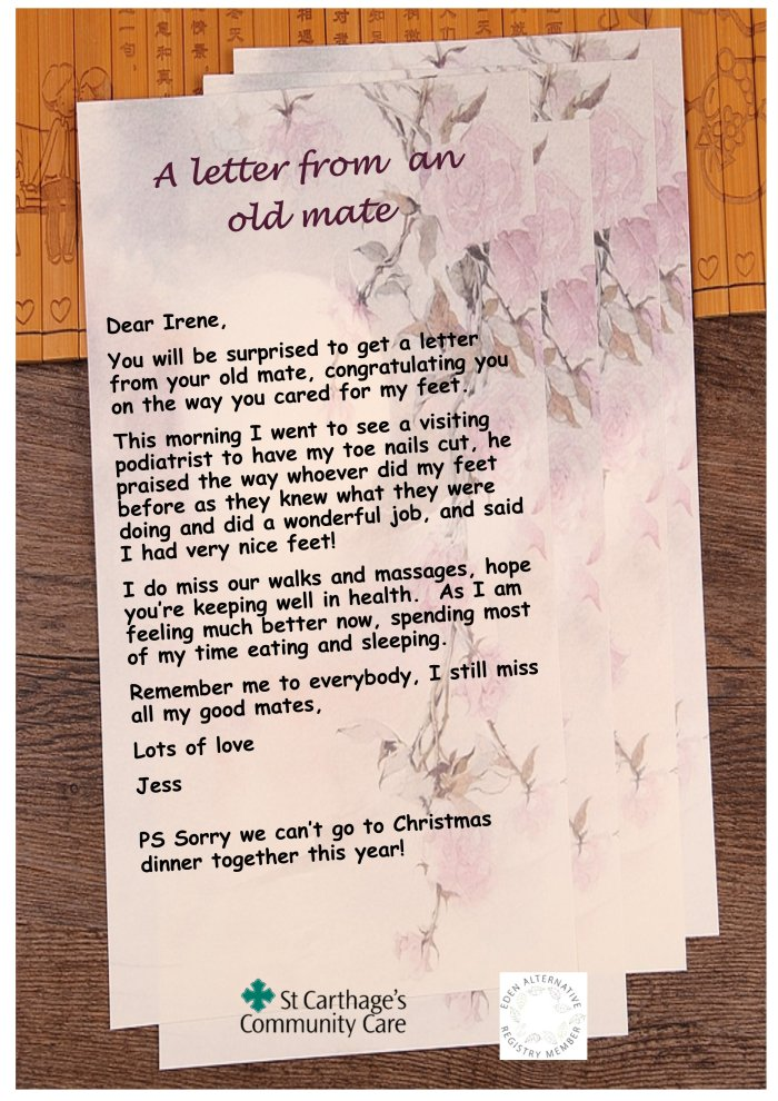 13 A letter to an old mate   Jess F